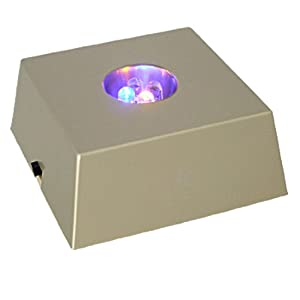 Gold tone led flashing light box display stand holder for Lightbox amazon