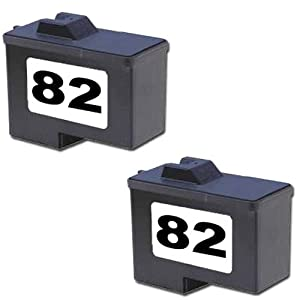 Amsahr 18L0032 Remanufactured Replacement Lexmark Ink Cartridges for Select Printers/Faxes - 2 Pack, Black
