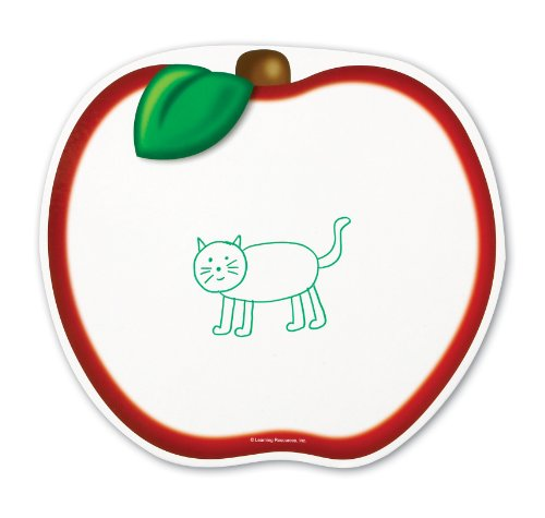 Learning Resources Write and Wipe Boards Apple, Set of 5 (LER3801)