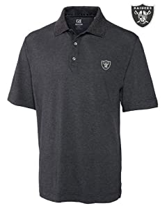 Oakland Raiders Mens Drytec Championship Polo Charcoal by Cutter & Buck