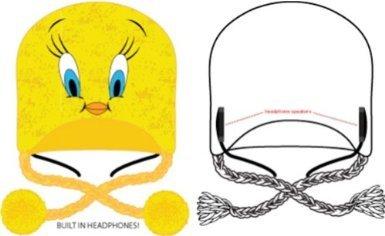 Looney Tunes Tweety Yellow Headphone Laplander Hat