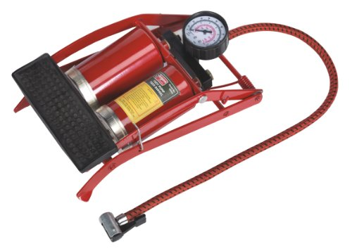 Sealey S0931 Compact Foot Pump Twin Barrel