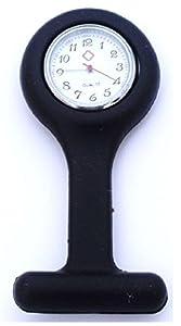 SS.COM - Reloj de bolsillo (cubierta extraíble, silicona), color negro por SS.COM