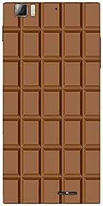 Snoogg Chocolate Designer Protective Back Case Cover For Lenovo K900