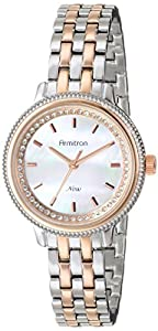 Armitron Women's 75/5224MPTR Swarovski Crystal Accented Rose Gold-Tone and Silver-Tone Bracelet Watch