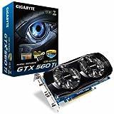 Gigabyte GeForce GTX 560 Ti 1 GB GDDR5 PCI Express 2.0 DVI-I x 2 / Mini-HDMI SLI Ready Graphics Card, GV-N560OC-1GI