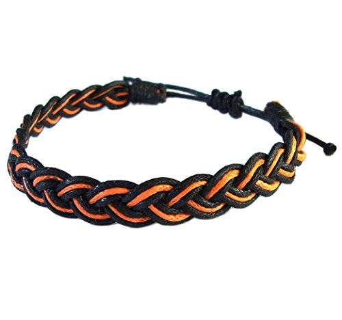 artisan-handgefertigt-armband-unisex-freundschaftsarmbander-schwarz-orange-baumwolle-schnur