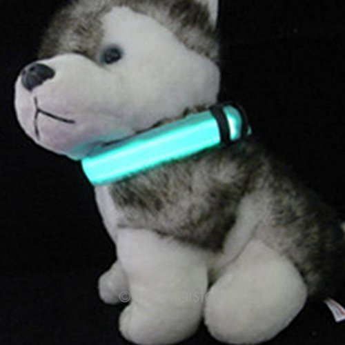 Adjustable Pet Cat Dog Led Collar Safety Glow Necklace Flashing Lighting Up Harness Training Collars For Dogs S/M/L