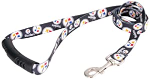 Yellow Dog Design Pittsburgh Steelers Licensed NFL EZ Leash by Yellow Dog Design