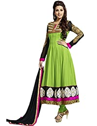 Zohraa Sonali Bendre Suits-Green Faux Georgette Anarkali Suit VivaSonali31031
