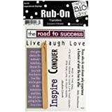 bulk buys Inspirational Sayings Rub-On Transfers, Black/White/Green/Blue/Purple/Burgundy