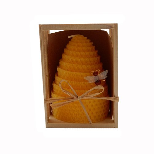 Green Pastures Wholesale Beeswax Yellow Honeycomb Shaped Pillar Candle, 3 by 4-Inch (Honeycomb Shaped Jar compare prices)