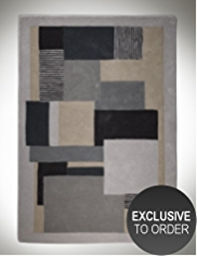 Conran Graphic Block 100% Wool Rug