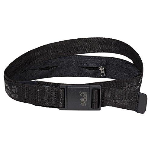 "Jack Wolfskin, Cintura ""Secret Belt"" Xt, Nero (Black), Taglia unica"