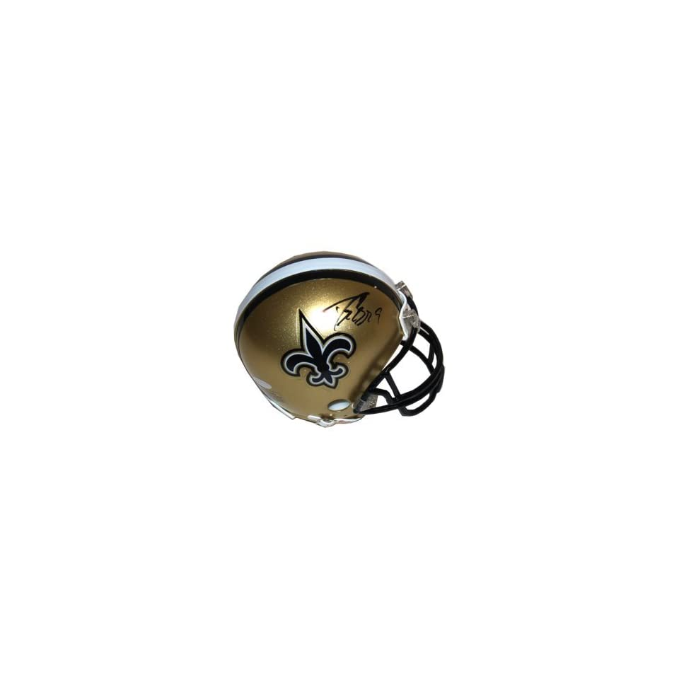 Drew Brees Autographed Mini Helmet