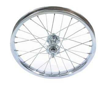 Bike | Bicycle 16″ x 1.75″ Steel Front Wheel 80g Chrome