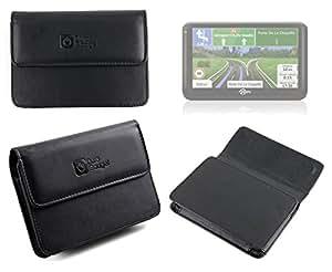 """Etui de protection en véritable cuir supérieur pour les GPS Mappy Ulti 5"""" y compris 490, 501ND, E501ND, 500 & 500ND"""