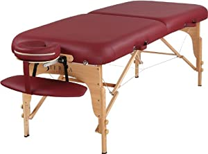 SierraComfort Luxe Portable Massage Table, Wine