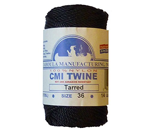 Best Buy! Catahoula Manufacturing #36 Tarred Twisted Nylon Twine (Bank Line) 117' Spool, 348lb Test