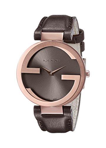 Gucci YA133309 - Orologio da polso da donna, cinturino in pelle colore marrone