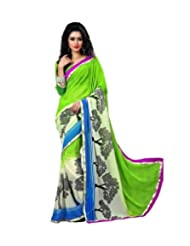 Triveni Flora Inspired Fancy colourful lace Saree 4008a