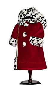 "American Girl Locker Leopard Print Velvet Coat with PURSE - fits American Girl 18"" Doll Clothes"