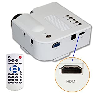 E rainbow 60quot portable mini hd led projector cinema for Apple projector price