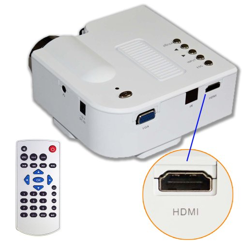 on sale e rainbow 60 portable mini hd led projector. Black Bedroom Furniture Sets. Home Design Ideas