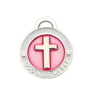 Luxepets Pet Collar Charm, Cross, Small, Pink