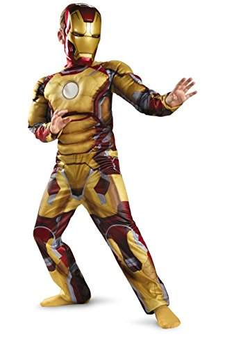 Iron Man Mark 42 Muscle Kids Costume - Large - Large (Iron Man Costume Toddler)