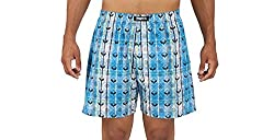 Magneto Men's Checkered NBlue Marine Printed Boxer (Small)
