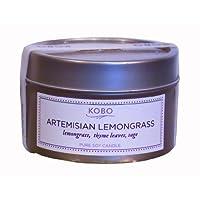 KOBO トラベルティン キャンドル アルテミシアン レモングラス
