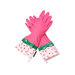 Amazoncom Gloveables Fashion Gloves in Pink Polka Dots