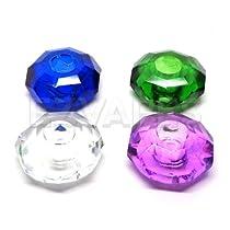 Round Jewel Glass Cigarette Butt Snuffer