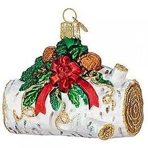 #!Cheap Old World Christmas Yule Log Ornament