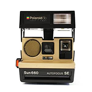 polaroid 50 sun 660 gold autofocus se instant film cameras camera photo. Black Bedroom Furniture Sets. Home Design Ideas