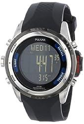 "Pulsar Men's PS7001 ""Tech Gear"" Digital Watch with Black Band"