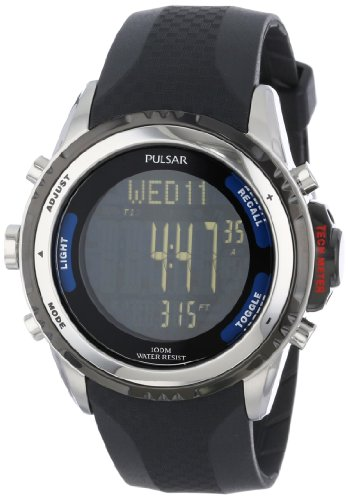 "Pulsar Men's PS7001 ""Tech Gear"" Digital Watch with Black Band"
