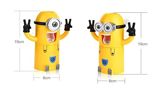 Minion Automatic Toothpaste Dispenser 2 Toothbrush Holder