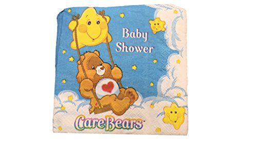 Care Bear Baby Shower Lunch Napkins (Care Bears Invitations compare prices)