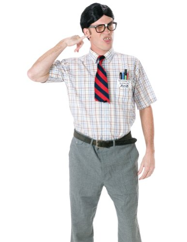 Adult-Costume Nerd Kit Halloween Costume - Most Adults
