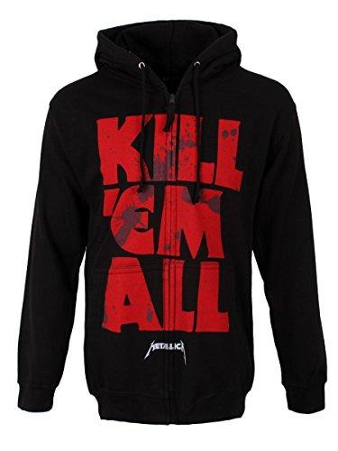 Metallica Kill ' em All mutato con cappuccio Nero