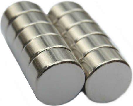 10 Neodymium Magnets 1/2 x 1/4 inch Disc N48