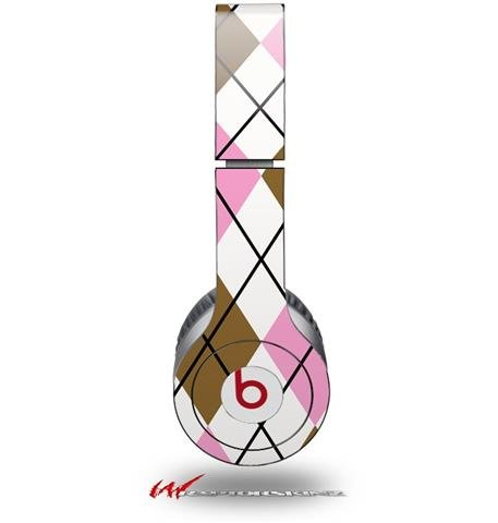 Argyle Pink And Brown Decal Style Skin (Fits Genuine Beats Solo Hd Headphones - Headphones Not Included)