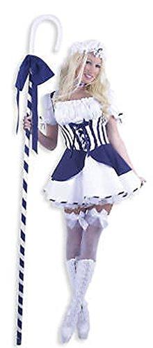 Popcandy Little Bo Peep Sexy Adult Costume Charades Sexy Sheepherder Role Play 01771 (Bo Peep Wig)