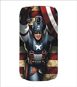 PrintDhaba Captain America D-5182 Back Case Cover for SAMSUNG GALAXY S3 MINI (Multi-Coloured)