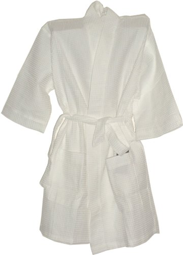 Monogrammed Bathrobes Bridesmaids Gifts Cotton Waffle White Short One Size