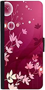 Snoogg Flower Pink Graphicdesigner Protective Flip Case Cover For Samsung Gal...