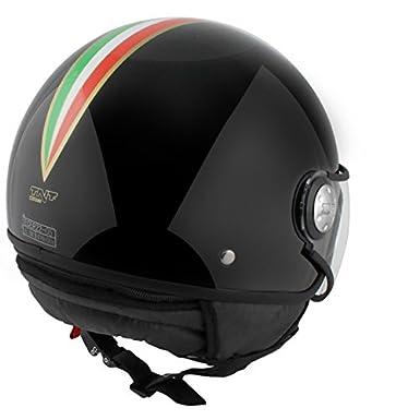 CASQUE 1/2 JET TNT PUCK ITALIA BLACK S