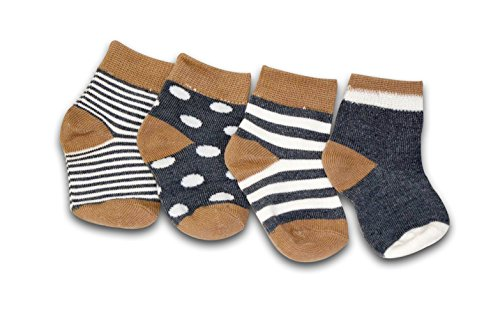 Tiny Captain Boys Baby Socks (6 PACK) For Babies, Infants, and Toddlers 10 Months to 24 Months (Small, Navy Blue) Review